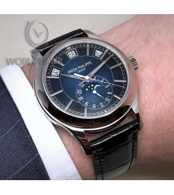 Patek Philippe [NEW] 5205G-013 Annual Calendar Blue Dial Mens Watch (Retail:HK$359,000)