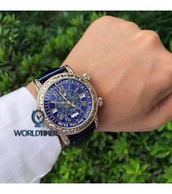 百達翡麗 (Patek Philippe) [2017 USED] Grand Complications Sky Moon Tourbillon 6002G Blue Dial Watch - SOLD!!