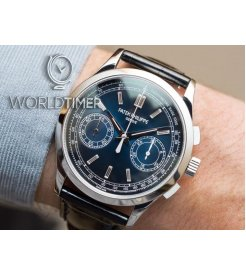 Patek Philippe [2018 NEW] 5170P Complications Chronograph Platinum Blue Dial Watch