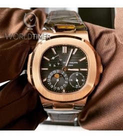 Patek Philippe [NEW] 5712R-001 Nautilus Rose Gold Power Reserve Moonphase