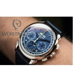 Patek Philippe [NEW] Blue WG Grand Complications Perpetual Calendar Blue Dial 5270G-014 (Retail:HK$1,144,100)