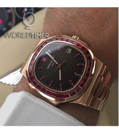 Patek Philippe [NEW][RARE] 5723/1R Baguette Ruby Diamonds Watch - SOLD!!