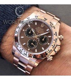 Rolex [2019 NEW MODEL][2019年最新款] Daytona 116505 Chocolate Dial Rose Gold Watch (Retail:HK$292,500)