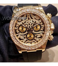 "Rolex Daytona 116588TBR ""EYE OF THE TIGER"" Yellow Gold Diamond Watch"