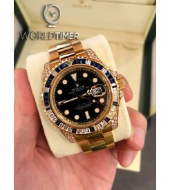 Rolex [NEW] GMT-Master II 40mm Yellow Gold 116758SA Mens Watch