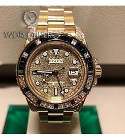 Rolex [NEW] Oyster Perpetual GMT-MASTER II Pave Diamond Dial 116758SA Mens Watch - SOLD!!