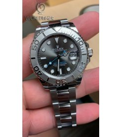 ROLEX [NEW] Yacht-Master Steel and Platinum Oyster Ladies 268622Rhodium Dial