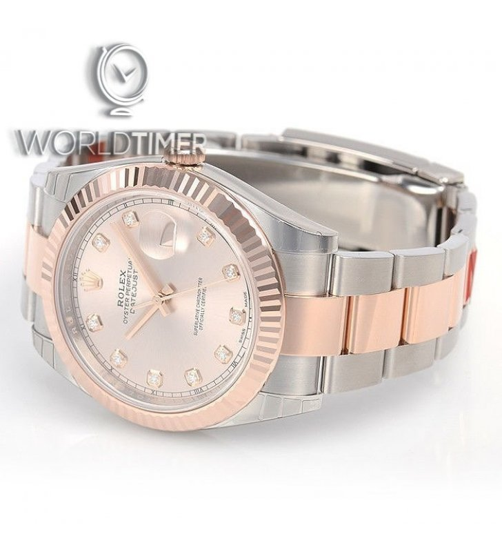 official photos fce0f 4969c Rolex [NEW] DATEJUST 41mm 126331G Mens Oyster Pink Diamond ...
