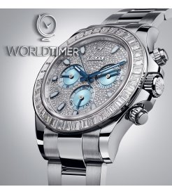 Rolex [2019 NEW] Daytona Platinum Pave Diamond Dial and Bezel 116576TBR