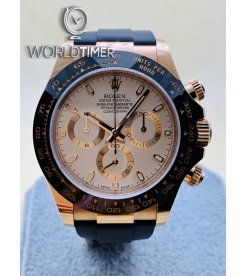 Rolex [NEW] Daytona Cosmograph 116515LN Rose Gold White Dial Watch