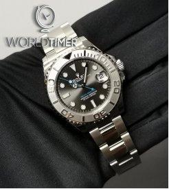 Rolex [NEW] SS/Plat SS 40mm Yacht-Master 126622 Rhodium Dial Watch