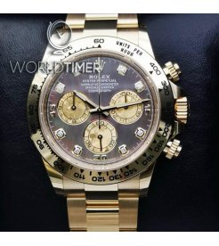 Rolex [NEW] 116508 Black Mother Of Pearl Diamond Dial Oyster Perpetual Daytona Watch