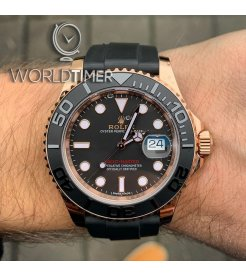 Rolex [NEW] Yacht-Master 40mm Rose Gold Mens Watch 126655