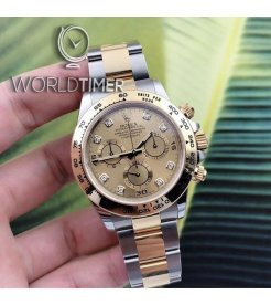 Rolex [NEW] Cosmograph Daytona 116503G Champagne Diamond Dial Watch
