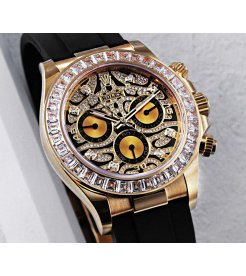 "Rolex [NEW] Daytona 116588TBR ""EYE OF THE TIGER"" Yellow Gold Diamond Watch"