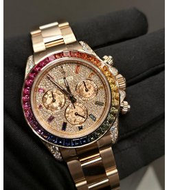Rolex 116595RBOW Daytona Rainbow Pave Diamond Dial Watch