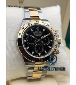 Rolex [NEW] Cosmograph Daytona Black 116503 Gold & Stainless Steel Watch