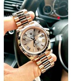 Rolex [NEW] Day-Date 40mm RG 228235 Sundust Roman Dial & Fluted Bezel Watch (Retail:HK$311,700)