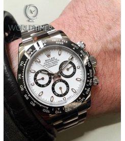 Rolex [NEW]Daytona 116500LN White Dial Cerachrom Black Bezel Watch - 香港行貨