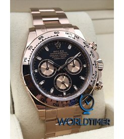 Rolex [NEW] Daytona Rose Gold 116505 Black Dial Watch