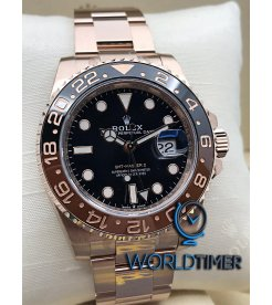 Rolex [NEW] GMT-MASTER II Full Rose Gold 126715CHNR ROOT BEER