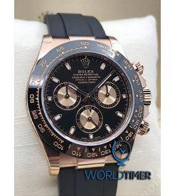 Rolex [NEW] Rose Gold Daytona 116515LN Black Dial 40mm Mens Watch