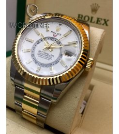 Rolex [NEW] Sky Dweller 42mm Mens 326933 White Index