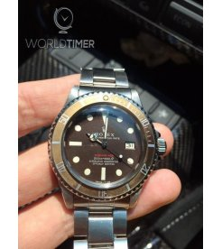 Rolex Red Submariner 1680 Tropical Brown Dial **No Minute Marker** UNIQUE Watch