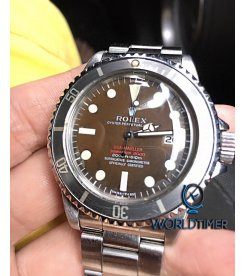 Rolex [RARE] Double Red Sea-Dweller 1665 MK2 1.7m Serial Tropical Dial Mint Condition Watch