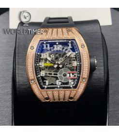Richard Mille [NEW] RM 029 Rose Gold Med Set Diamond Big Date Mens Watch