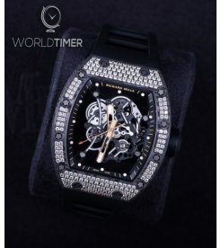Richard Mille [NEW] RM 055 Bubba Watson RoseGold Carbon TPT Med Set Diamond Watch