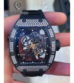 Richard Mille [2018 MINT] RM 055 Bubba Watson Rose Gold NTPT Med Set Diamonds