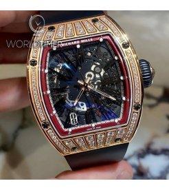 Richard Mille [NEW] RM 023 Rose Gold Med Set Diamonds Mens Watch