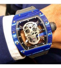 Richard Mille [LIKE-NEW] RM 52-01 Skull Blue Quartz TPT Tourbillon