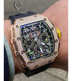 Richard Mille RM 11-03 Rose Gold Med Set Diamonds Watch