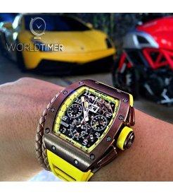 "Richard Mille [2011 MINT][LIMITED 30 PIECE] RM 011 Felipe Massa Yellow ""Bronzo"""