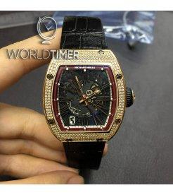 Richard Mille [2014 USED] RM 023 Rose Gold Full Set Diamonds Mens Watch