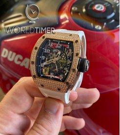 Richard Mille [2019 LIKE-NEW] RM 030 Rose Gold/Titanium Diamonds Mens Watch