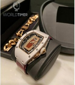 Richard Mille [NEW] RM 037 White Ceramic with RM Original Gold Bracelet