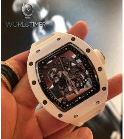 Richard Mille [NEW] RM 055 Bubba Watson White Ceramic Mens Watch