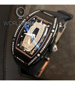Richard Mille [NEW] RM 07-01 Black Ceramic Gem Stone Diamond Black Lip Automatic Ladies
