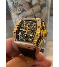 Richard Mille [2018 LIKE NEW] RM 11-03 FULL Rose Gold Automatic Flyback Chronograph