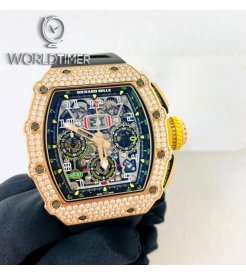 Richard Mille [NEW] RM 11-03 Rose Gold Full Set Diamonds Flyback Chronograph Automatic