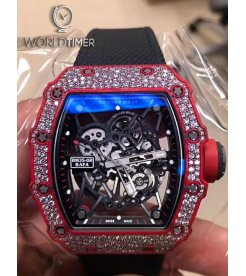 Richard Mille [2019 MINT] RM 35-02 Red Quartz-TPT Diamonds Watch