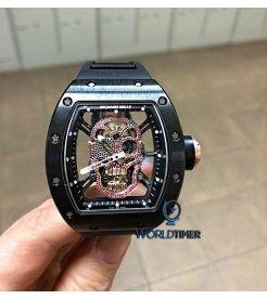 Richard Mille [2014 NEW][UNIQUE]RM 52-01 Diamond Dial Skull Tourbillon