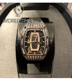 RICHARD MILLE [NEW] RM 037 NTPT Rose Gold Med Set Pave Diamonds Ladies
