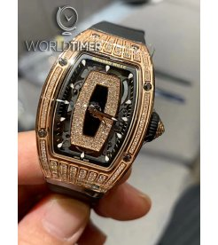 Richard Mille [NEW] RM 07-01 Rose Gold Med Set Diamonds Automatic Ladies