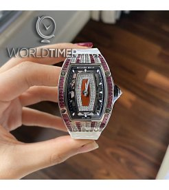 Richard Mille [NEW] RM 07-01 White Gold Baguette Ladies Watch