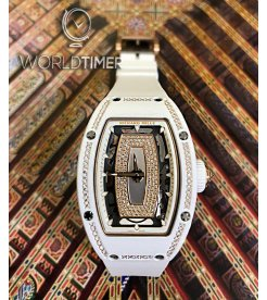 Richard Mille [NEW] RM 07-01 White Ceramic with Diamonds Ladies Watch