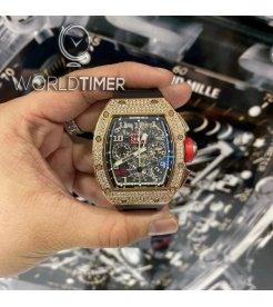 Richard Mille [LIKE NEW] RM 011 Rose Gold Pave Diamonds Watch